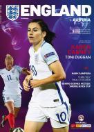 Womens England v Austria Official Programme 10.04.2017