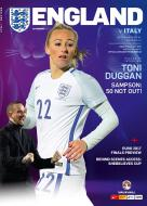 Womens England v Italy Official Programme 07.04.2017